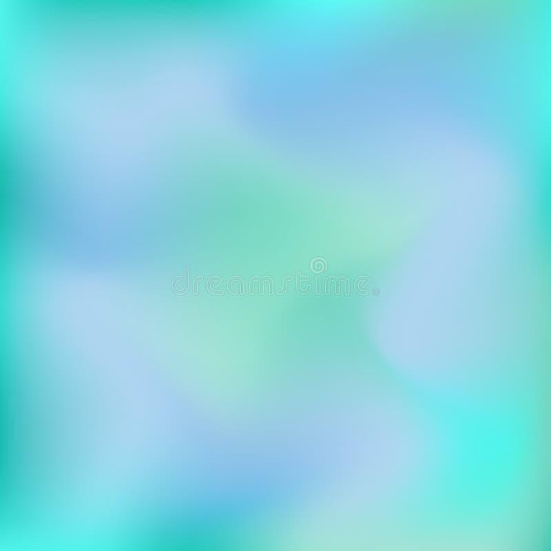 O vetor borrou o fundo abstrato em cores azuis e verdes ilustração royalty free