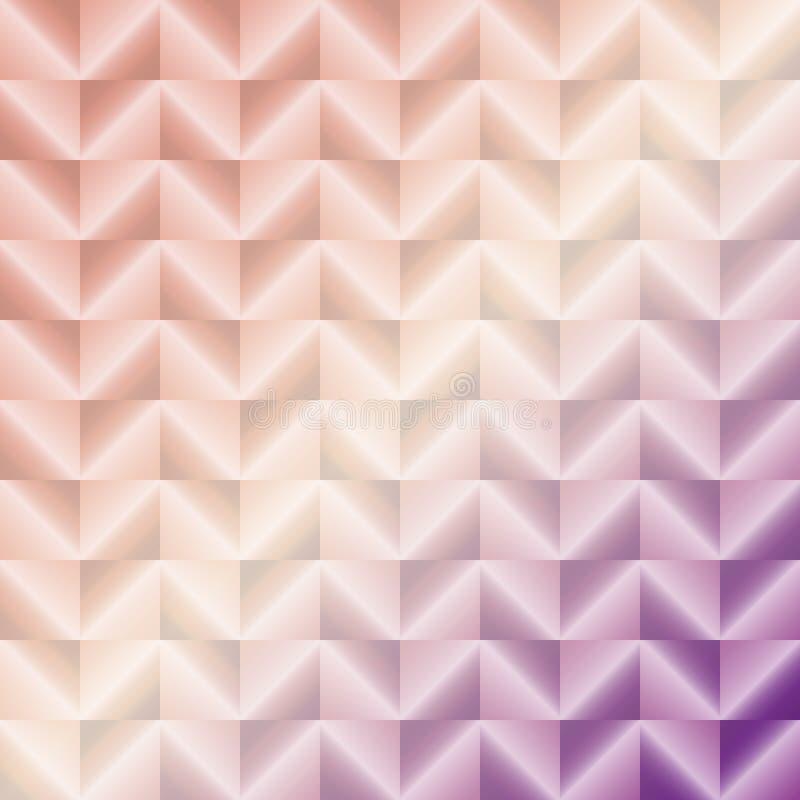 O vetor cor-de-rosa criado do sumário do metal esquadra o fundo ilustração do vetor