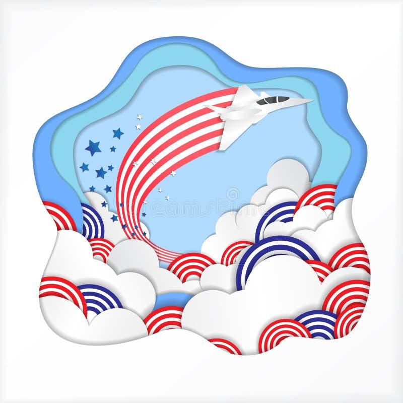 O vetor da celebração do Dia da Independência de América ilustra ilustração royalty free