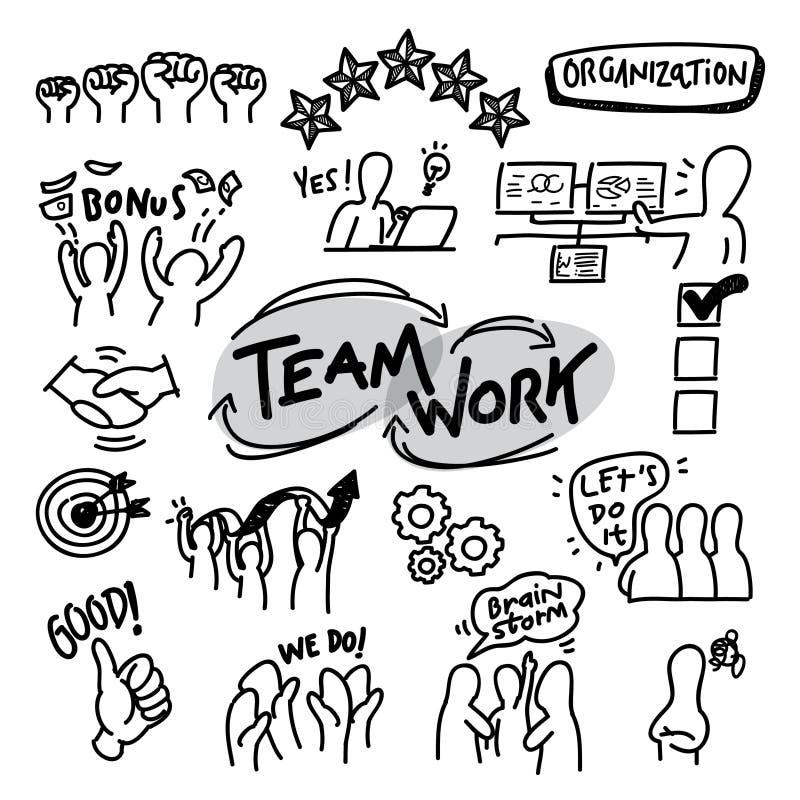 O vetor da organização ilustra a linha ícone ilustração do vetor