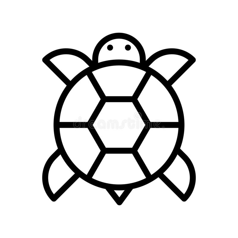 O vetor da tartaruga, ano novo chinês relacionou a linha curso editável do ícone do estilo ilustração royalty free