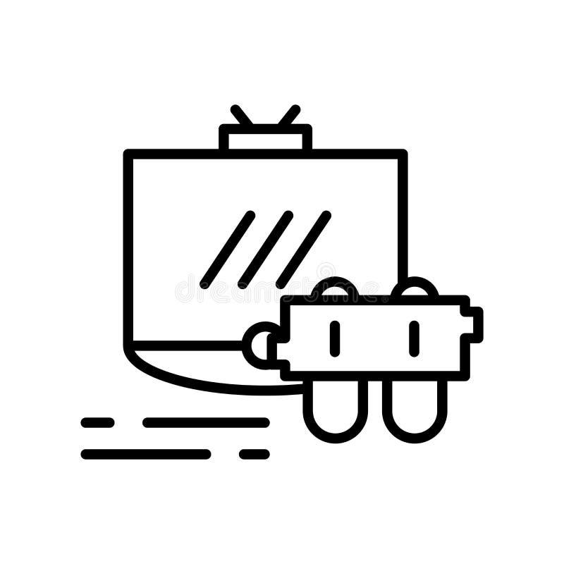 O vetor do ícone do console do jogo isolado no fundo branco, jogo cons ilustração royalty free