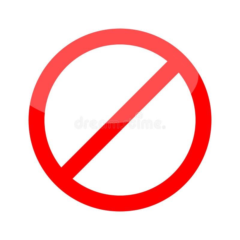 O vetor do ícone da parada do sinal da parada para a ilustração vermelha do símbolo de advertência da ilustração ilustração do vetor