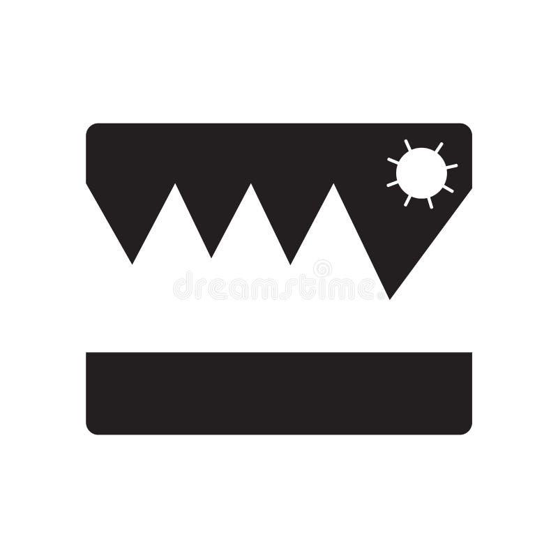 O vetor do ícone das fotos isolado no fundo branco, fotos assina, símbolos das férias ilustração royalty free