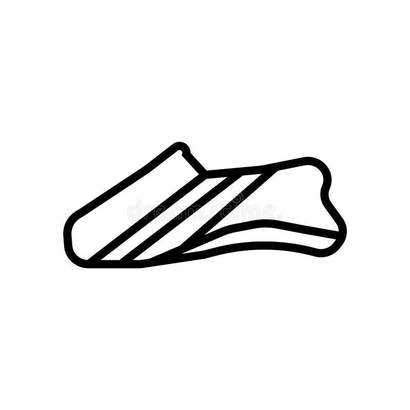 O vetor do ícone das sapatas isolado no fundo branco, sapatas assina, símbolo e elementos lineares do projeto do curso no estilo  ilustração do vetor
