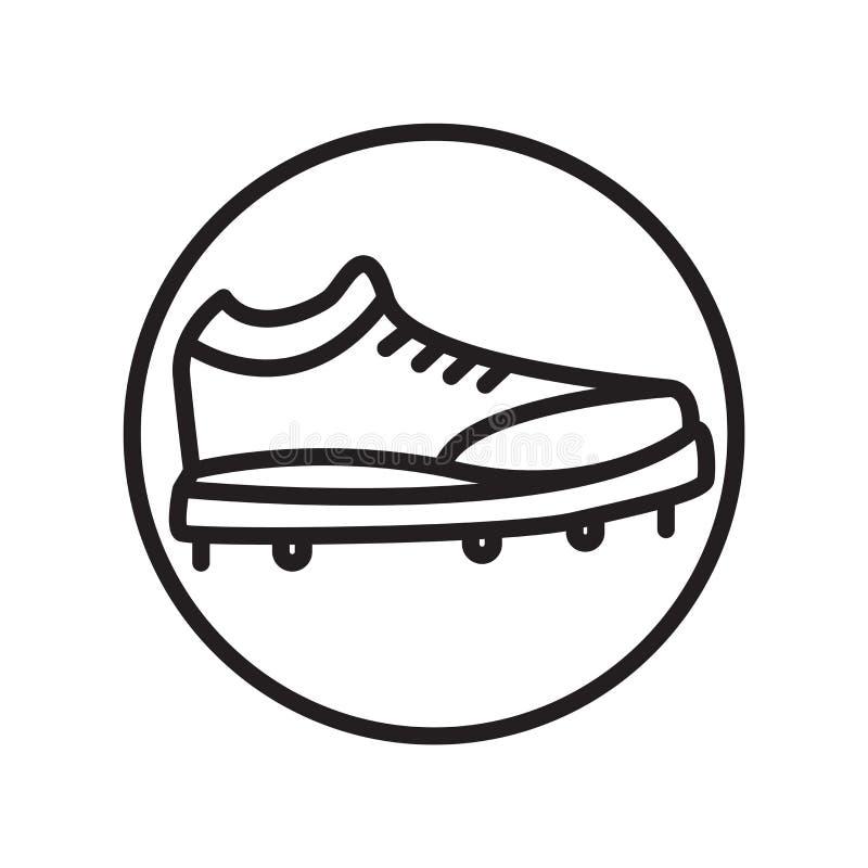 O vetor do ícone das sapatas isolado no fundo branco, sapatas assina, símbolos lineares do esporte ilustração do vetor