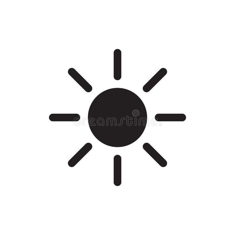 O vetor do ícone de Sun isolou-se ilustração royalty free