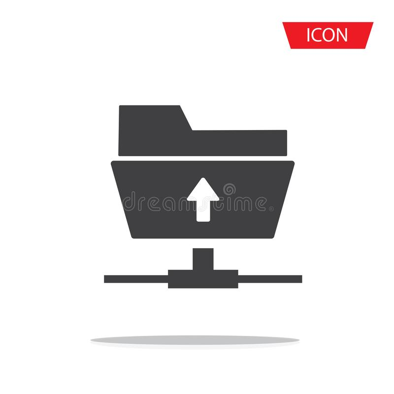 O vetor do ícone do downlond do ftp isolou-se ilustração do vetor