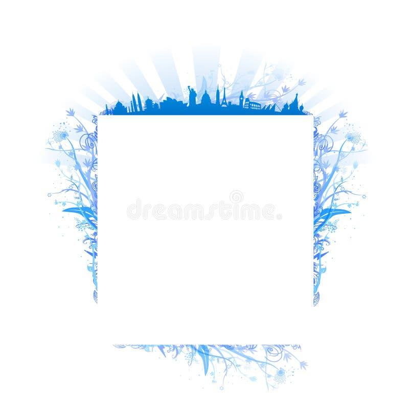 O vetor do curso ornaments o frame ilustração stock