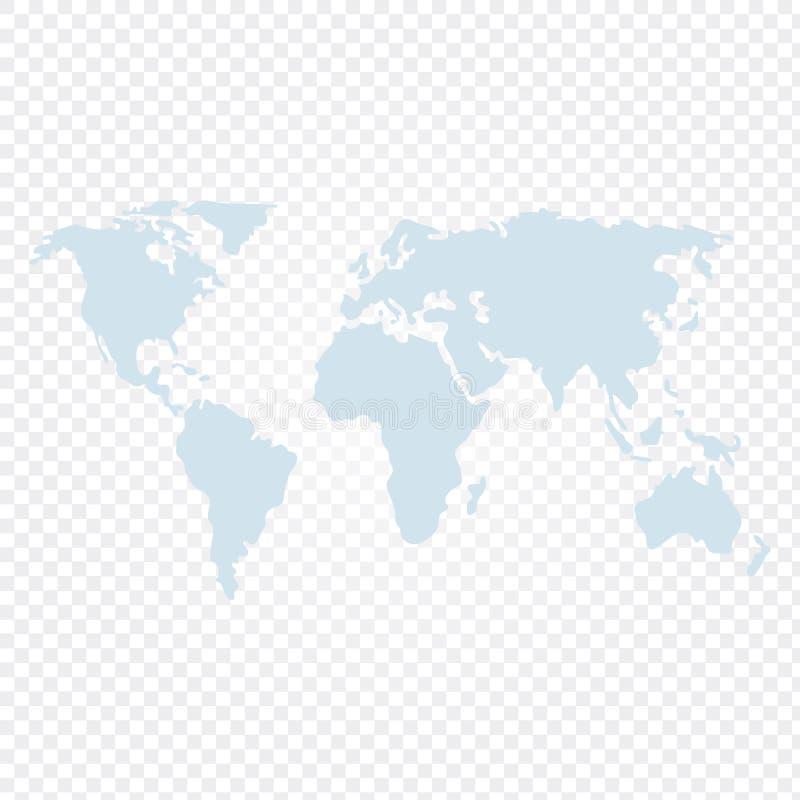 O vetor do mapa do mundo ilustrou ilustração stock