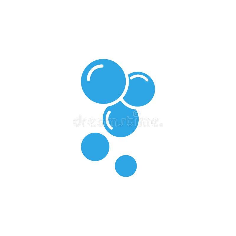 O vetor do molde do projeto do ícone da bolha da água isolou-se ilustração stock