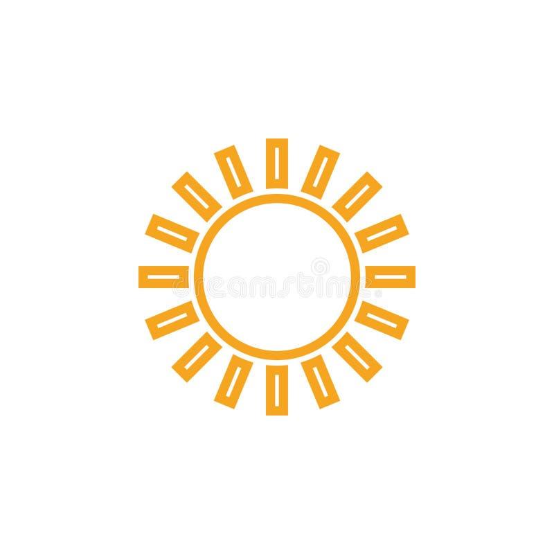 O vetor do projeto do clipart de Sun isolou-se ilustração royalty free