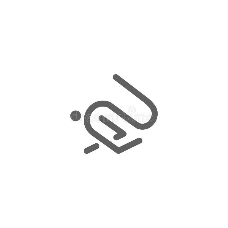 o vetor do projeto do logotipo do coelho ou do ícone do coelho isolou-se ilustração stock