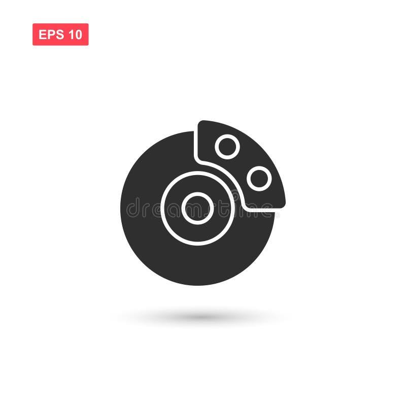 O vetor do sistema de freio do disco isolou 6 ilustração do vetor