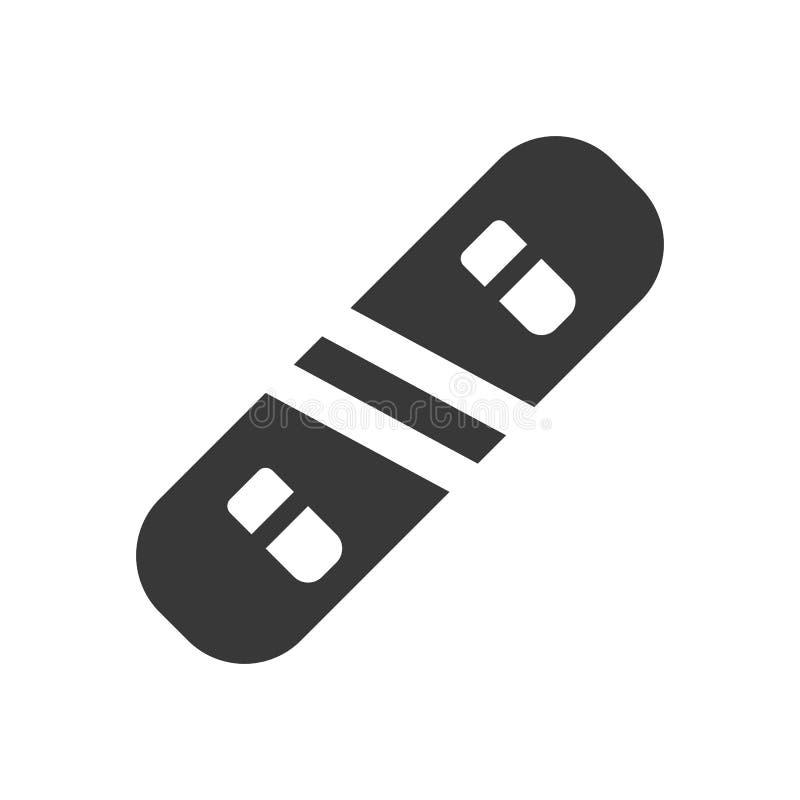 O vetor do Snowboard, Chirstmas relacionou o ícone contínuo do estilo ilustração royalty free