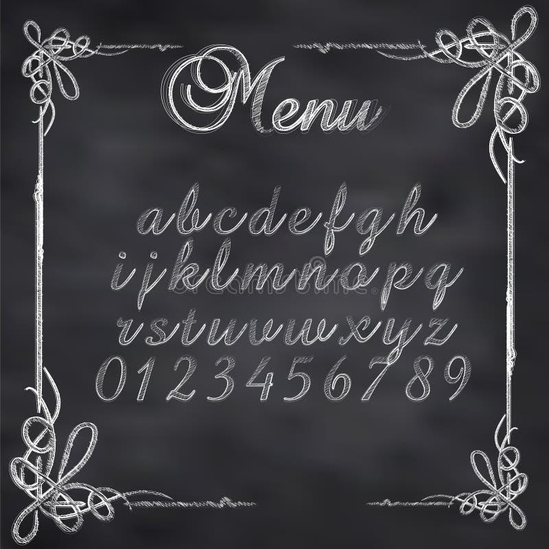 O vetor esboçou a placa do menu ilustração do vetor