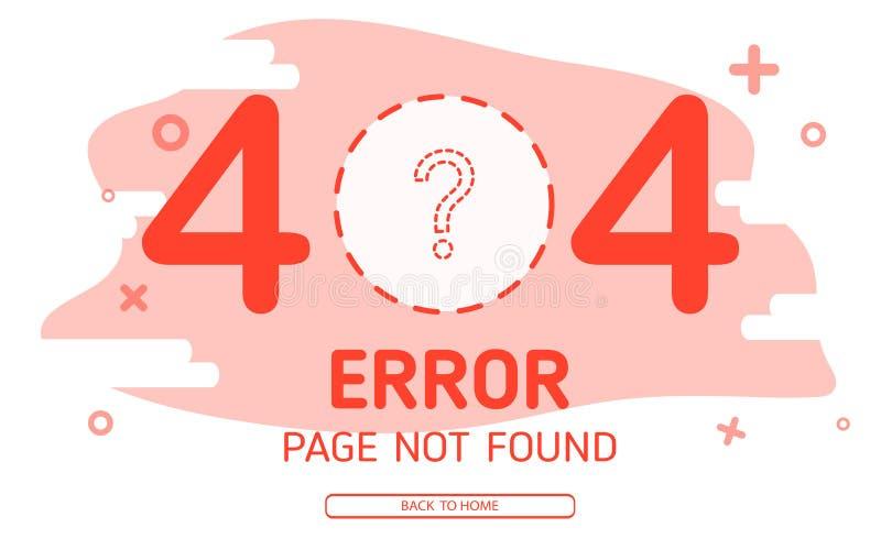 o vetor não encontrado da página de 404 erros desaparece o fundo gráfico zero ilustração stock