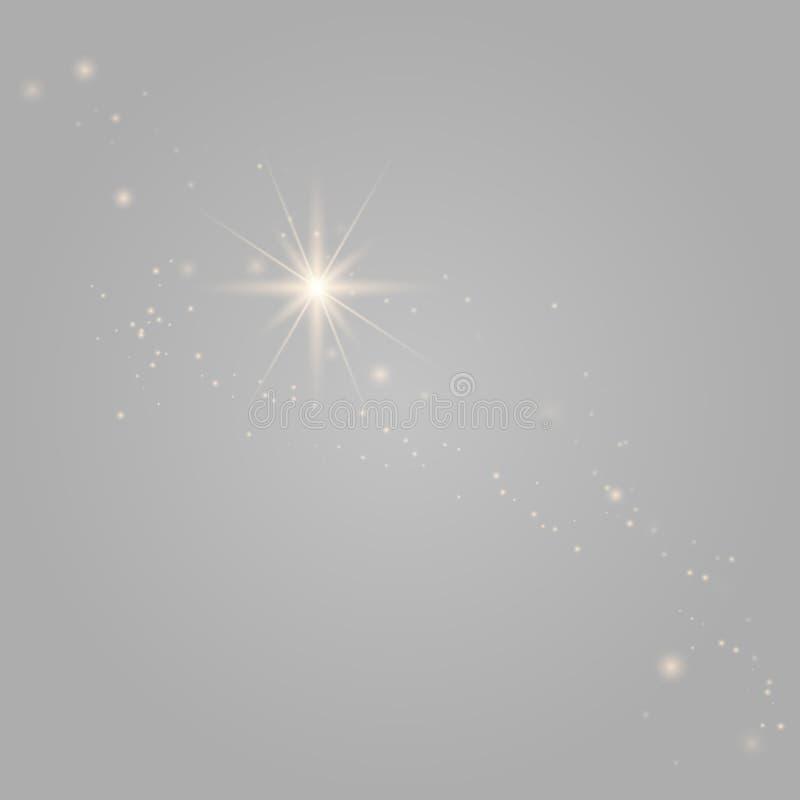 O vetor sparkles no fundo transparente ilustração royalty free