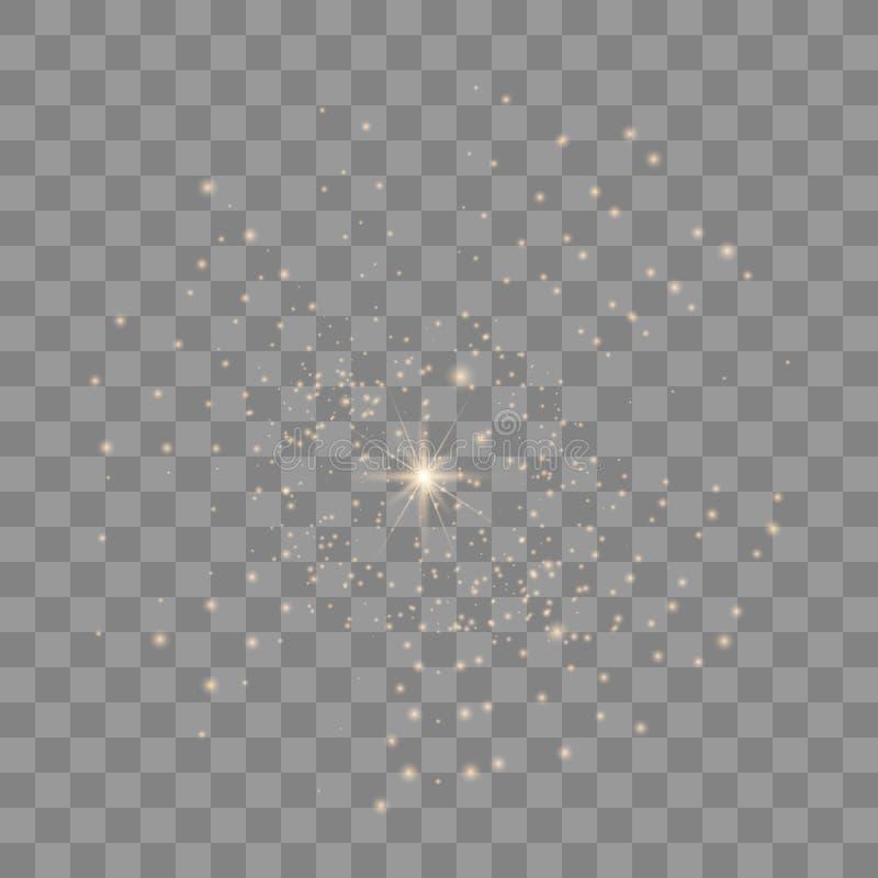 O vetor sparkles no fundo transparente ilustração do vetor