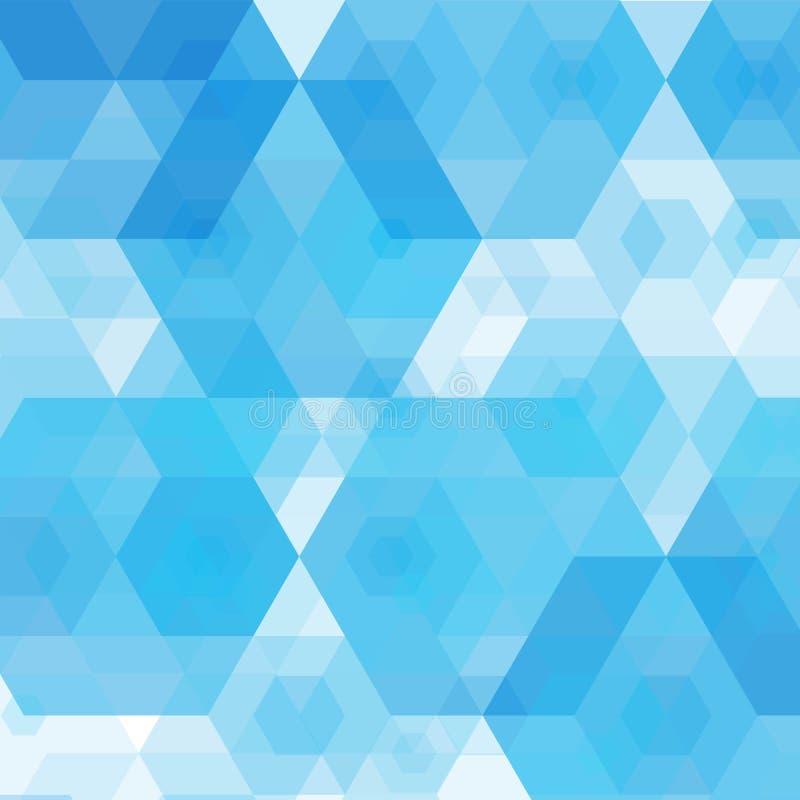 O vetor sutil ilumina - o fundo sextavado geométrico do sumário azul EPS ilustração do vetor