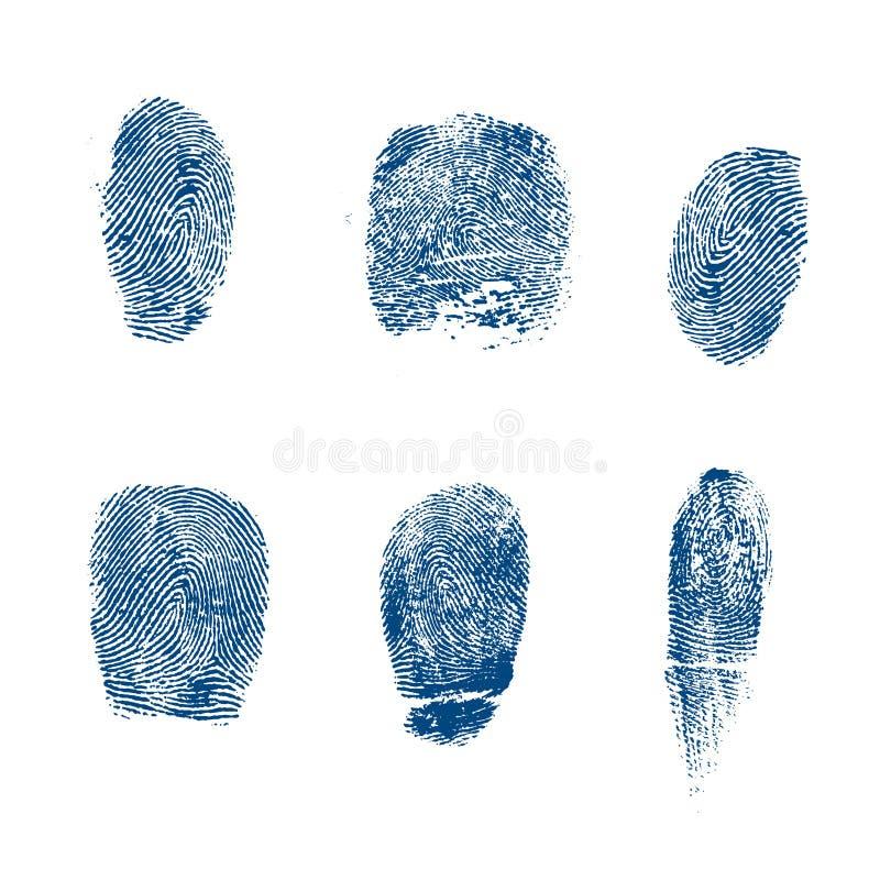 O vetor toma as impressões digitais a polícia ilustração do vetor