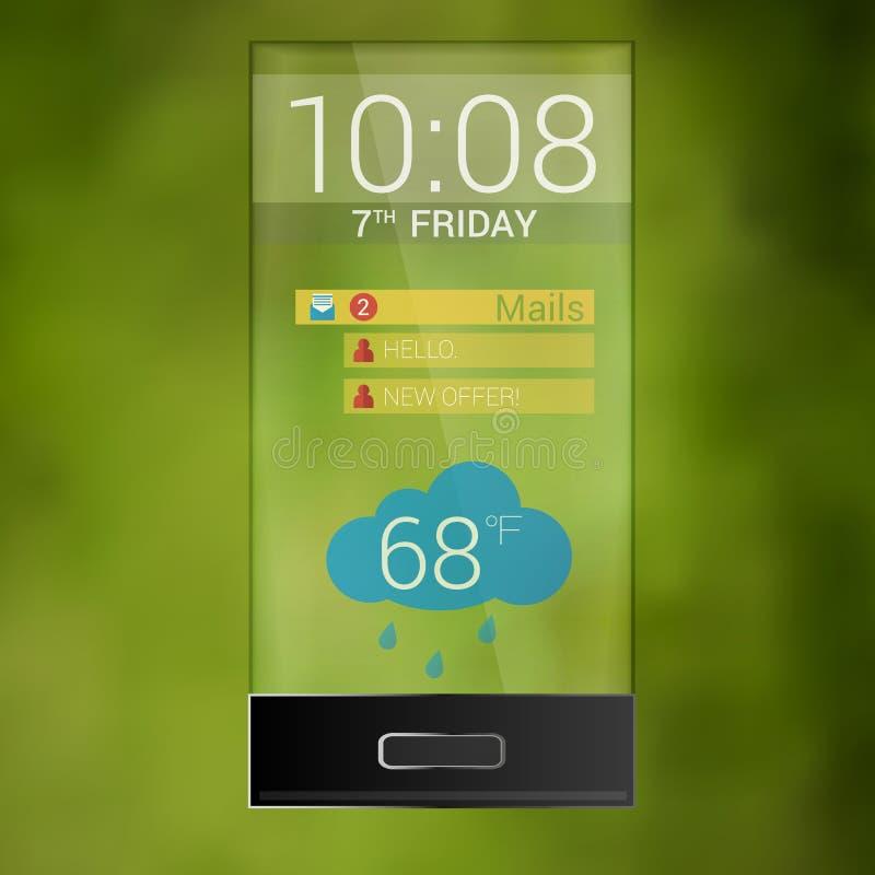 O vetor transparente futuro do telefone celular ilustração royalty free