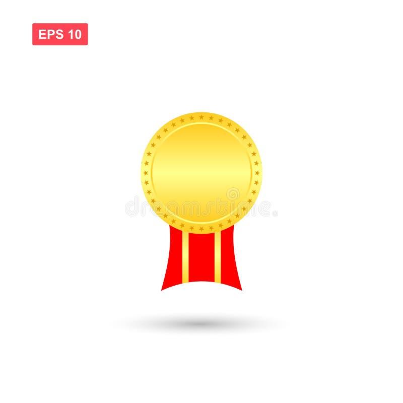 O vetor vazio concede medalhas ilustração stock
