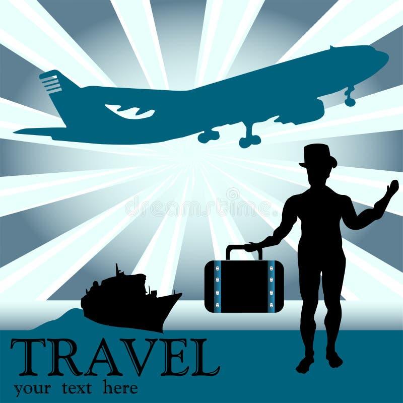 O Viajante Imagem de Stock Royalty Free