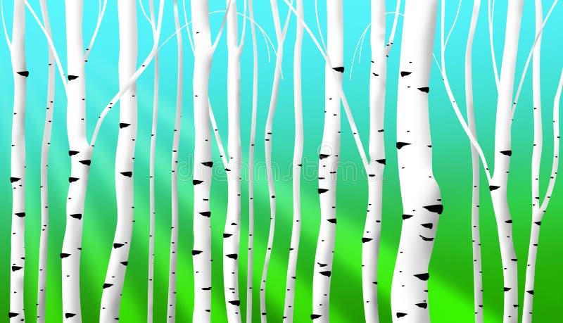 O vidoeiro abstrato provem o fundo ilustração stock
