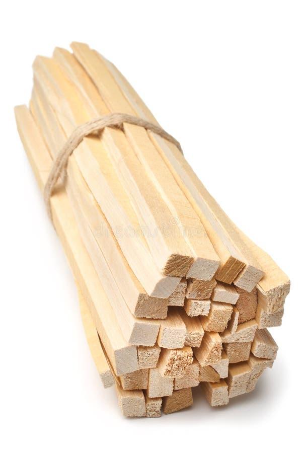 O vidoeiro desperdiça a madeira para inflamar foto de stock