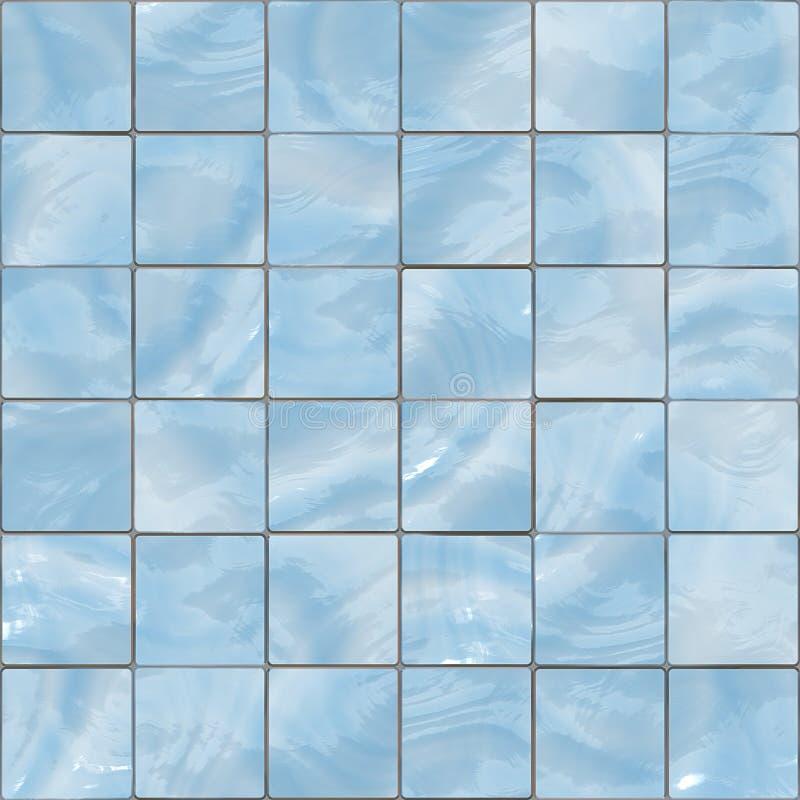 O vidro azul telha a textura sem emenda ilustração royalty free
