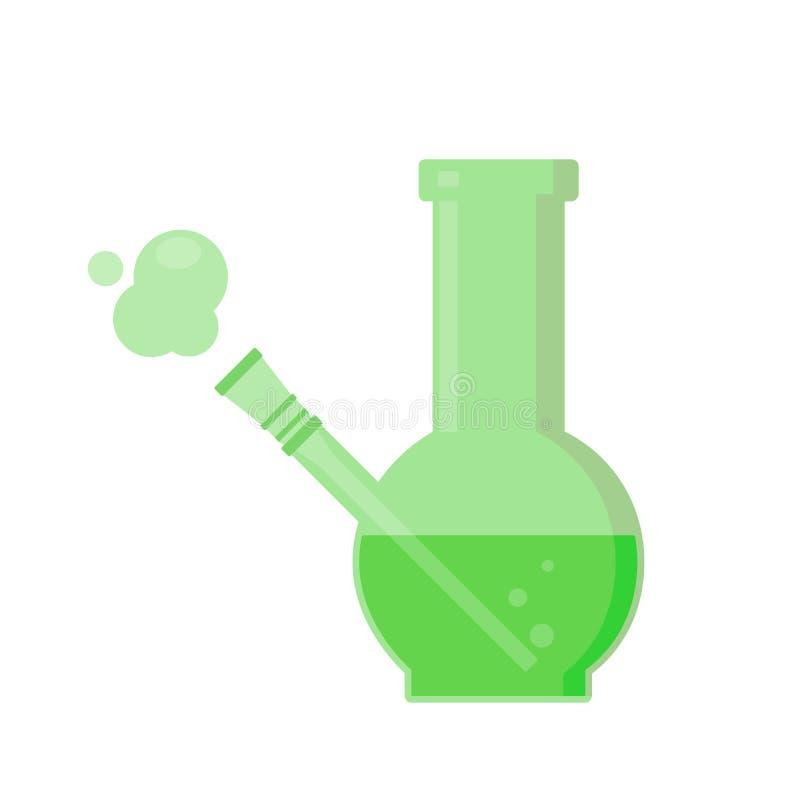 O vidro bong fumando ilustração stock