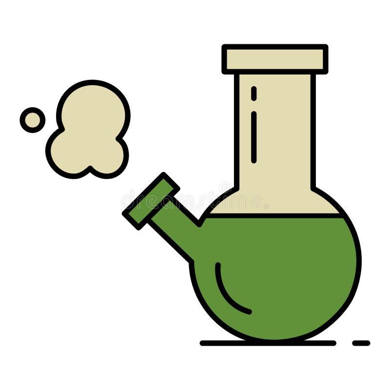O vidro bong fumando ilustração do vetor