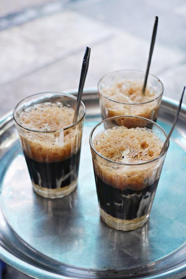 O vietnamita congelou o café - sua a Dinamarca do phe do Ca fotografia de stock royalty free