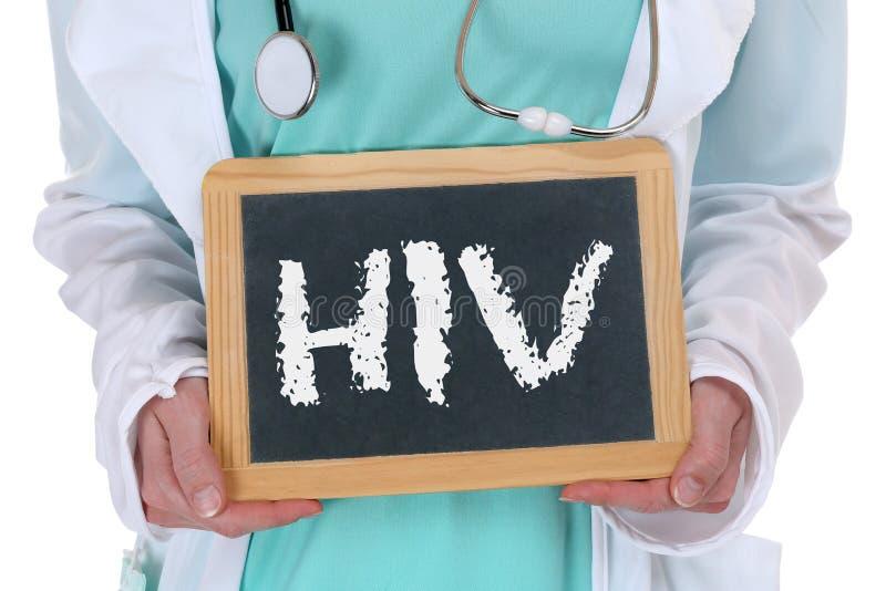 O VIH AJUDA ao nur saudável do doutor da saúde da doença doente da doença do diagnóstico fotografia de stock