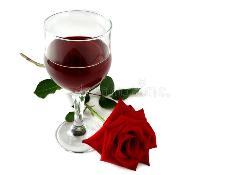O vinho vermelho e levantou-se imagem de stock royalty free