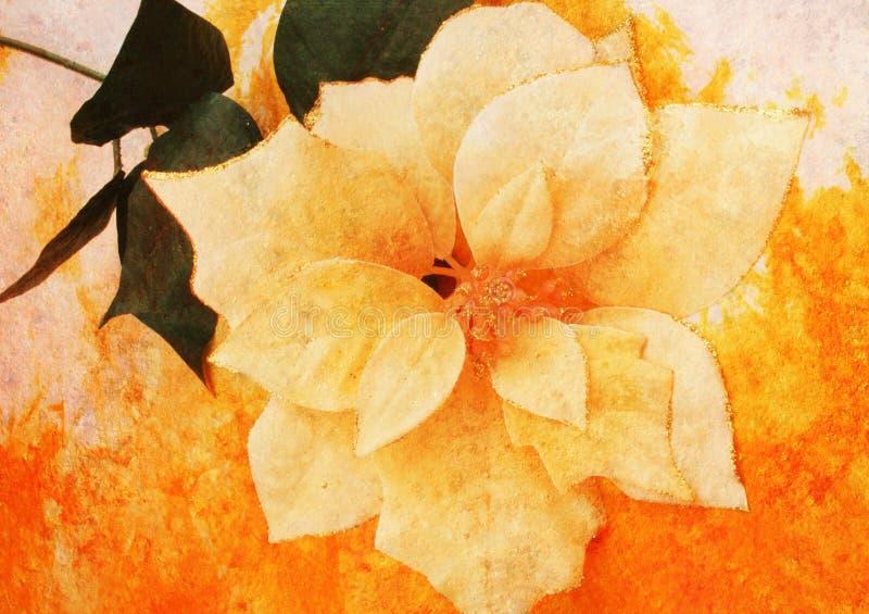 O vintage denominou a flor de pano fotografia de stock royalty free