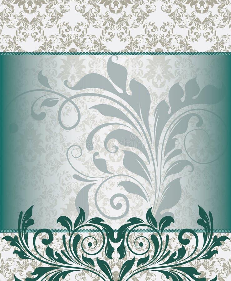 Cartão floral azul do convite ilustração royalty free