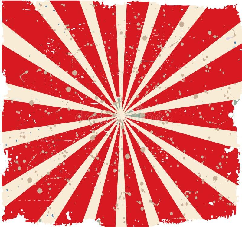O vintage desvaneceu-se fundo Vermelho retro ilustração royalty free