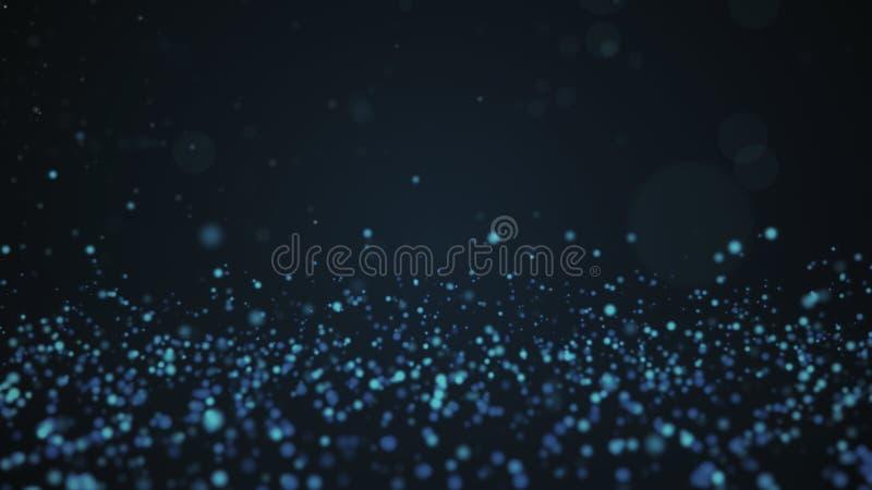 O vintage do brilho ilumina o fundo Contexto defocused azul ilustração royalty free