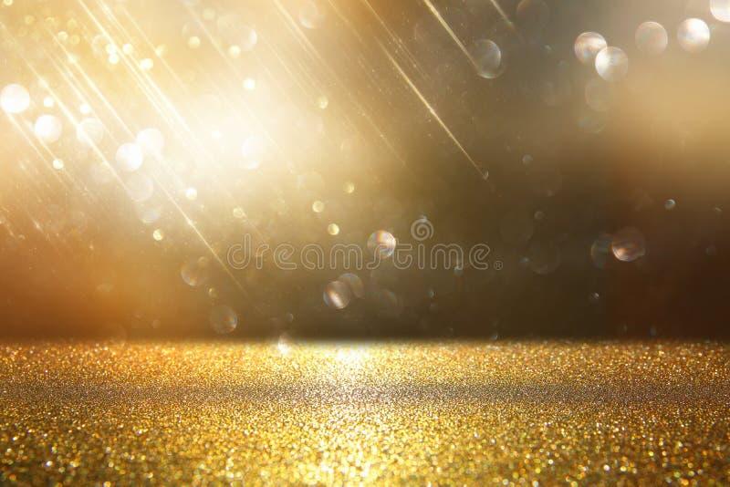 O vintage do brilho ilumina o fundo Prata e ouro de-focalizado ilustração royalty free