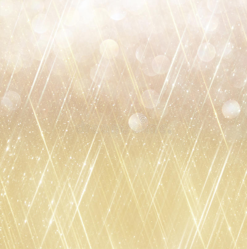 O vintage do brilho ilumina o fundo Fundo abstrato do ouro defocused ilustração do vetor