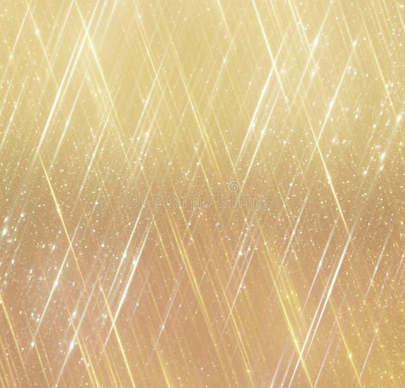 O vintage do brilho ilumina o fundo Fundo abstrato do ouro defocused ilustração stock