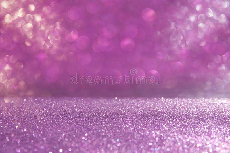 O vintage do brilho ilumina o fundo rosa e prata defocused imagens de stock