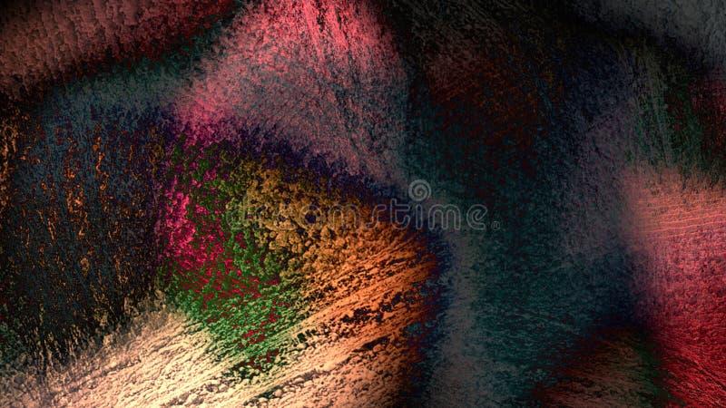 O vintage material velho antigo do projeto abstrato do teste padrão da textura riscou o fundo atmosférico resistido danificado da ilustração do vetor
