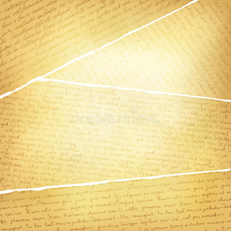 O vintage rasgado pagina o fundo ilustração do vetor
