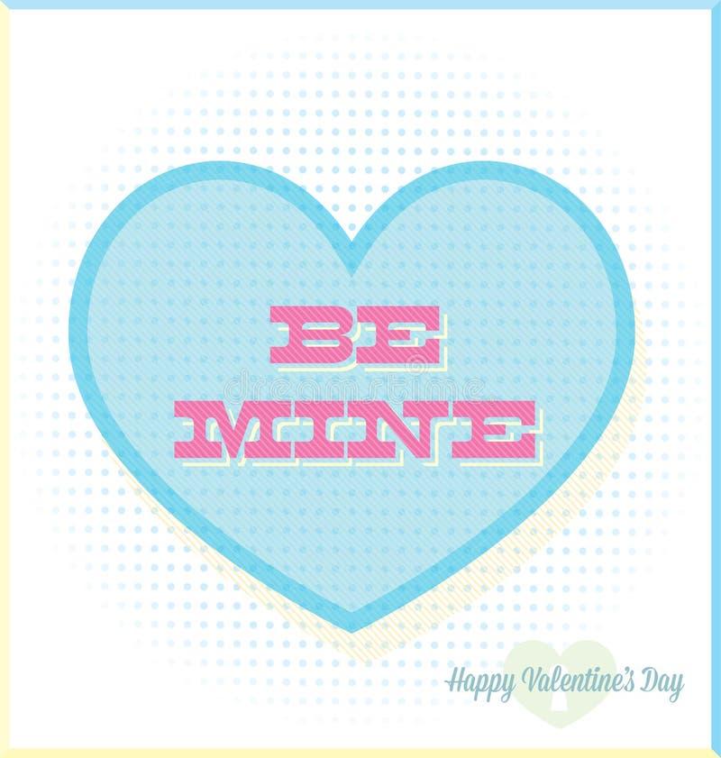 O vintage seja cartão do dia de Valentim da mina ilustração royalty free