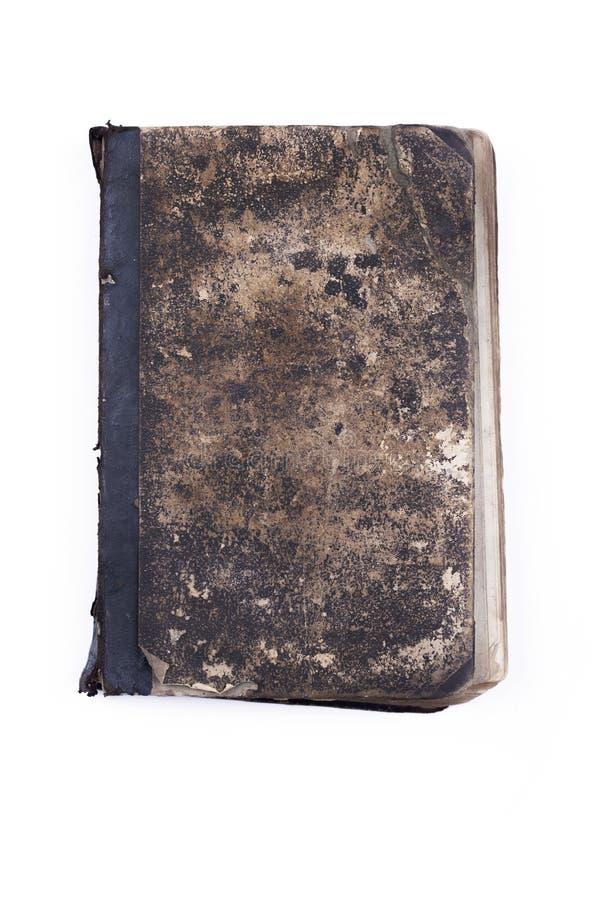 O vintage velho esfarrapou o fechamento do livro com fundo branco isolado corrente imagens de stock royalty free