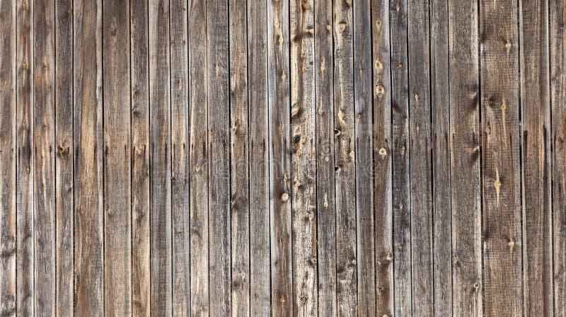 O vintage velho natural resistiu à cerca de madeira contínua marrom Sumário fotos de stock royalty free