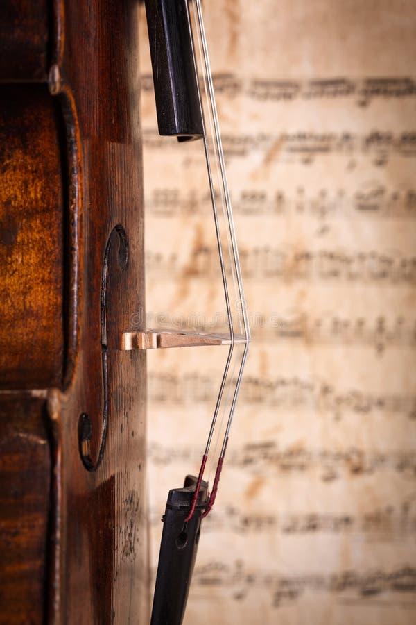 O violino amarra o detalhe fotos de stock